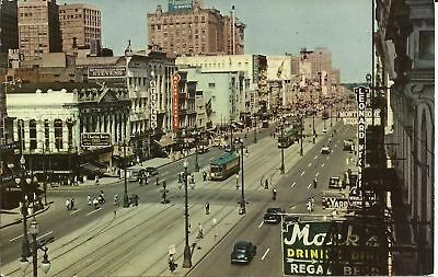 Old Vintage Canal Street In New Orleans Louisiana Postcard