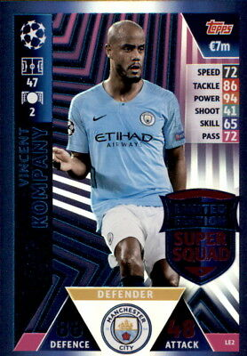 Champions League 18/19 - Karte LE2-Vincent Kompany- Limited Edition Super Squad