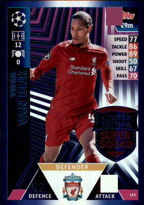Champions League 18/19 - Karte LE5-Virgil van Dijk- Limited Edition Super Squad