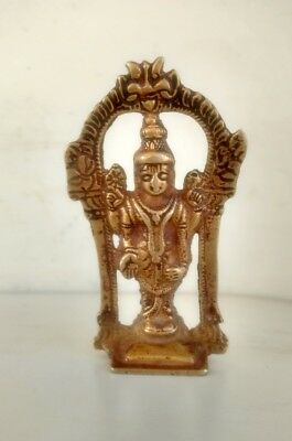 Vintage Old Hand Crafted Brass Hindu Religious God Vinshu Incarnation Ram Statue
