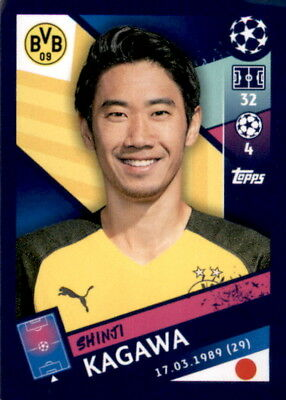 Topps Champions League 18/19 - Sticker 149 - Shinji Kagawa