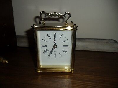 Vintage Smiths Brass Sectronic Carriage Clock  Working.Junghans Quartz Movement