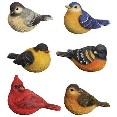 Set of 6 Resin SONGBIRD Figurines from Carson Home Accents