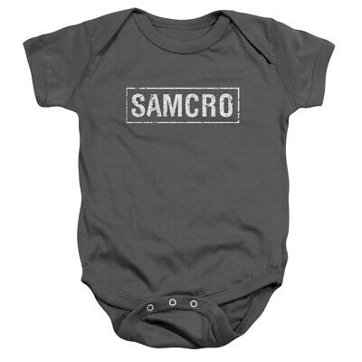 Sons Of Anarchy Samcro Unisex Baby Snapsuit Charcoal (6 Mos)