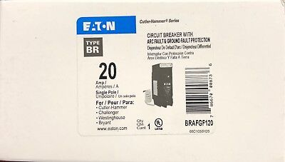 Cutler Hammer Eaton Brafgf120 Dual Function 20A Circuit Breaker New In Box