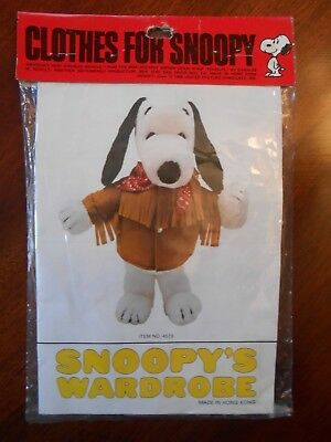 New Vintage 1958 Snoopy's Wardrobe Fringed Jacket with Bandana Outfit Clothes