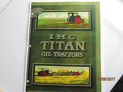 IHC Titan Oil Tractor  Catalog 12-25, 18-35, 30-60  International Harvester