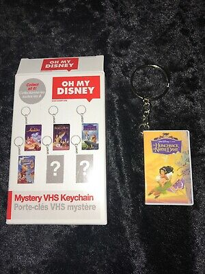 Oh My Disney Mystery VHS Keychain-Complete Set Of 6-New