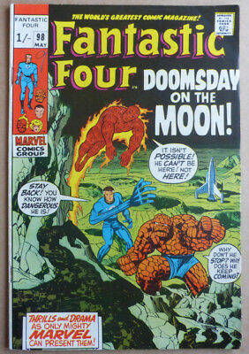 Fantastic Four #98, 'doomsday On The Moon', Script & Art By Lee & Kirby.