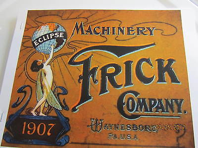 1907 Color Frick Company Machinery Catalog