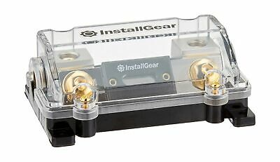 InstallGear 0//2//4 Gauge AWG in-Line ANL Fuse Holder with 150 Amp Fuse 150A Fuse