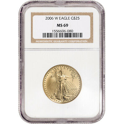 2006-W American Gold Eagle Burnished 1/2 oz $25 - NGC MS69