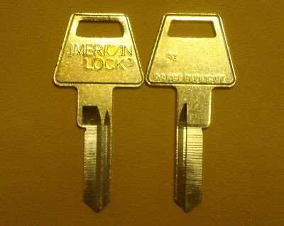 American Lock R2 Restricted Key Way Key Blank 6 Pin Lot of 2