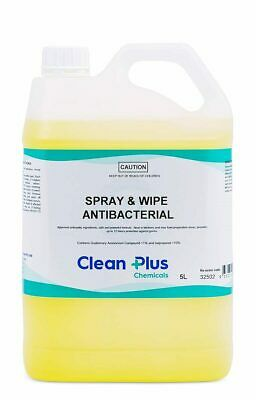 Spray & Wipe 5L Commercial Surface General Cleaner Hospitality Table Cleaning