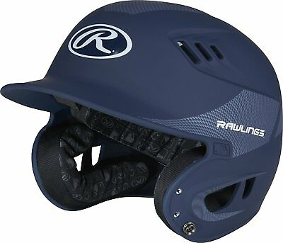 Rawlings R16CFJ-MN Junior Matte/Carbon Fiber Finish Batting Helmet, Matte Navy
