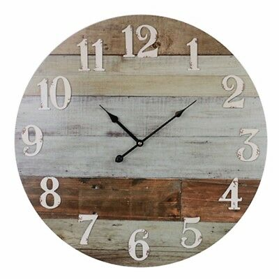 Clock 58cm Wall Rustic French Vintage Farmhouse Timber Style