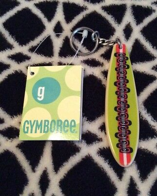 NWT Gymboree BLUE HAWAII Line Surf Board Keychain Metal Ring Vintage 2002 Rare!