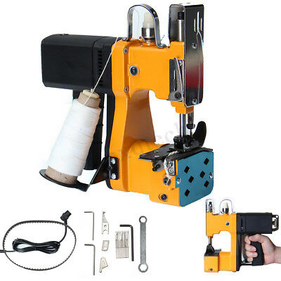 220V Industrial Portable Electric Bag Stitching Sack Closer Seal Sewing Machine