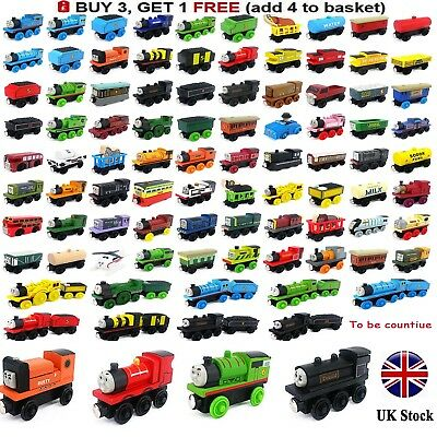 The Tank Engine Tender Wooden Magnetic Railway Train Toys Truck Car Kids Gifts`