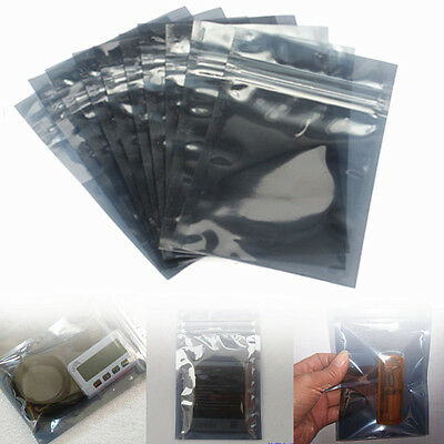 10/25/50/100Pcs Lots Anti Static Shielding Bag Reclosable ESD Ziplock 70x100mm