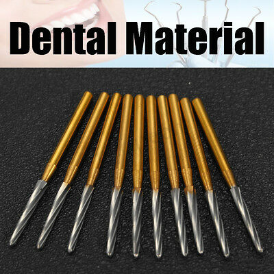 10XDental Tungsten Steel 28mm Lab Drill Burs Carbide Bone Cutters Trim Finishing