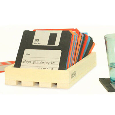 6 Floppy Disk Tea Coaster Cup Holder Mat Coffee Drinks Drink Silicon Coaster Pad