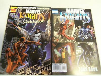Marvel Knights Sketchbook #[nn] and tourbook  (Aug 1998, Marvel / Wizard) VF/NM