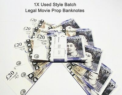 20 Pounds, Prop Realistic Fake Pounds Banknotes Fake Money GBP, Used Style 1PCS