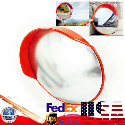 "18"" 24""Outdoor Road Traffic Convex PC Mirror Wide Angle Driveway Safety Security"