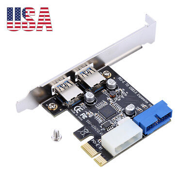 2 Ports PCIE PCI-E to USB 3.0 Expansion Card USB Hub Controller Adapter 5 Gbps