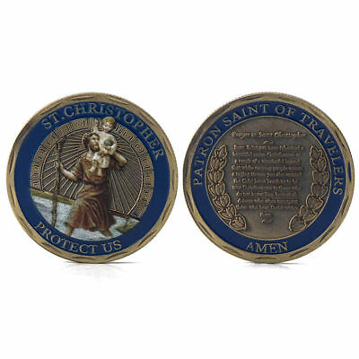 St.Christopher Patron Saint Of Travelers Commemorative Coin Challenge Collection