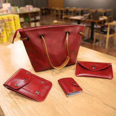 Women PU Leather Lady Shoulder Bags Office Market Travel Ladies Gift Set Retro