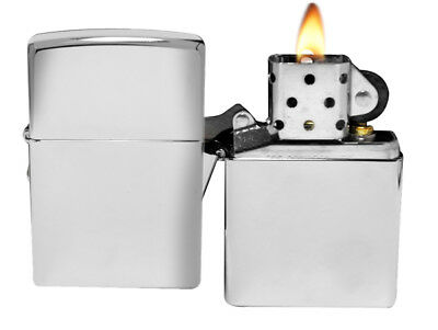Zippo Lighter 250 High Polish Chrome Lighter Classic Theme NEW