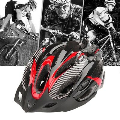Bicycle Mountain Bike Helmet Safety Cycling Head Protect Adjustable red Q7N5