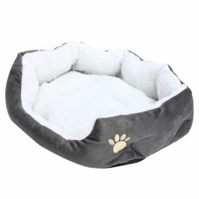 50 x 40cm Lambskin Dog Paw pattern Pet's Nest Warm Washable Bed Sleeping FleL2S5