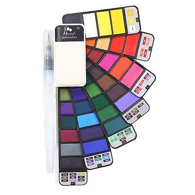 New Foldable Watercolor Paint Set with Brush for Field Sketch Outdoor 42 Colors