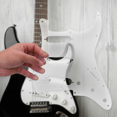 Acrylic Pickguard Scratch Plate SSS 12 Holes for ST Style Strat Electric Guitar