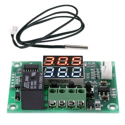XH-W1219 DC 12V Dual LED Display Thermostat Temperature Controller Module Sensor