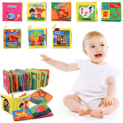 UK Soft Cloth Book Baby Toy Early Learning Education Animals Book Infant Toys