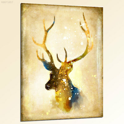 CDF4 Colorful Cartoon Retro Elk Living Room Decorated Wall Frameless Oil Paintin