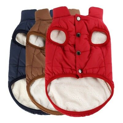 Small Pet Dog Cat Puppy Padded Coat Jacket Hoodie Thick Apparel Outwear Clothes