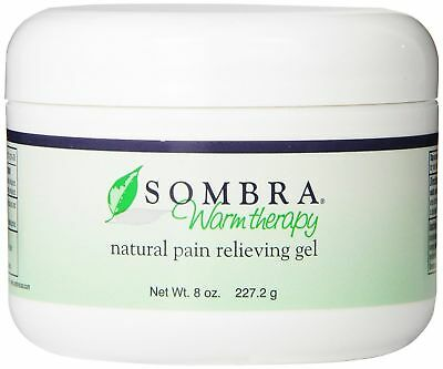 SOMBRA WARM THERAPY ALL NATURAL PAIN RELIEF GEL 8oz JAR FREE FAST SHIPPING