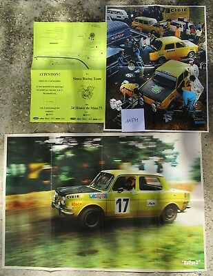 N°11591 / documents  SIMCA 1000 Racing Team  1971-1973 SRT