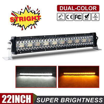 22Inch 1080W Dual LED Work Light Bar Tri Row Combo For Offroad SUV ATV Strobe 20