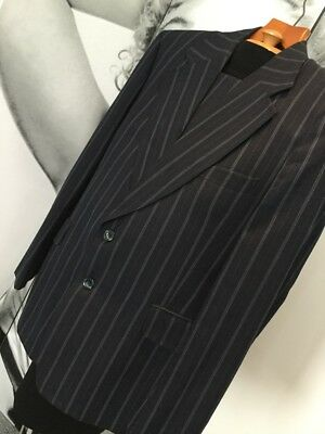 Men's Vintage HARDY AMIES Tailored By HEPWORTHS Navy Pinstripe Two Piece Suit
