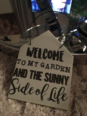 Brand New 'Welcome To My Garden' Wooden Sign - Home Decor Wood Plaque
