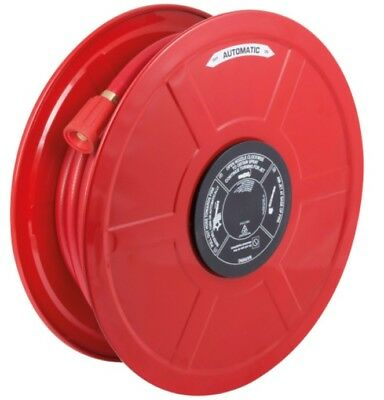 Fhramf25 Red Fire Hose Manual Fixed, Hose Reel With 30M X 25Mm Hose