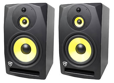 """2 Rockville DPM10B 10"""" 400w Powered Studio Monitor Speakers For Electronic Drums"""