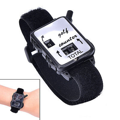 Golf Score YJroke Keeper Count Watch Putt Counter Shot With Wristband PR