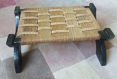 Vintage Woven Seagrass  Footstool